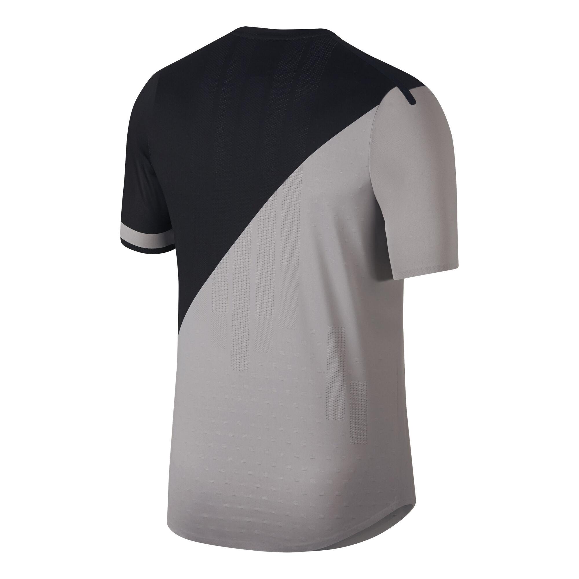 d0ee4867983 Nike Court Zonal Cooling Challenger T-shirt Heren - Grijs, Zwart ...