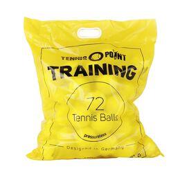 Training 72 Bälle im Beutel (druckloser Tennisball) inkl Balleimer