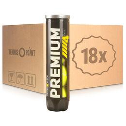 Premium Tennisball 4er 18 Dosen im Umkarton