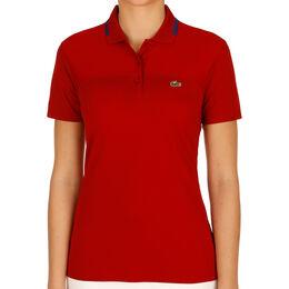 Short Sleeved Ribbed Collar Shirt Women