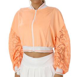 Lace Cropped Bomber Jacket Women