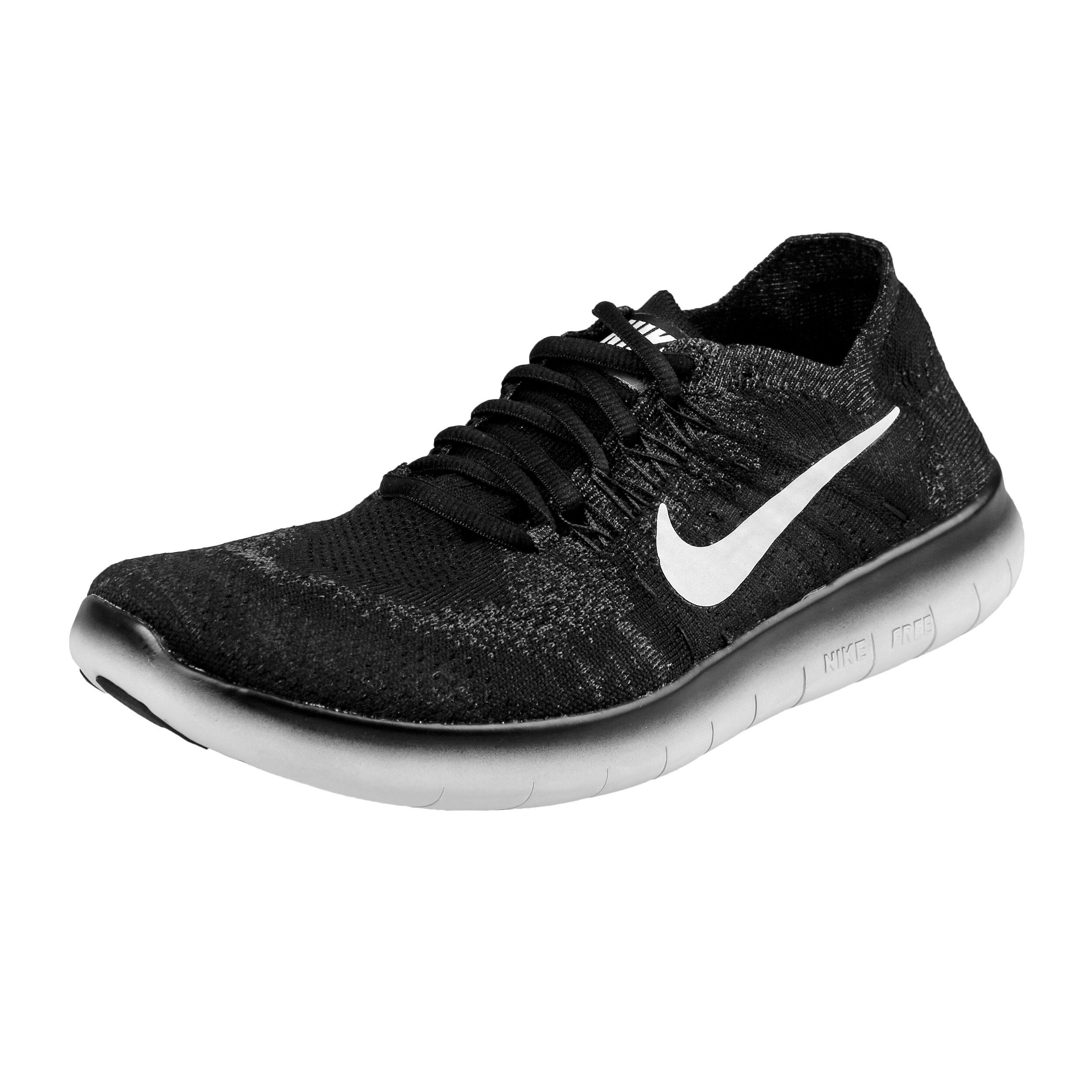 Nike Free Run Flyknit 2017 Fitnessschoen Dames - Zwart, Wit